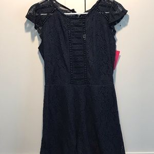 Lace Navy Romper